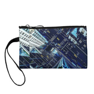 Colorful High Above The City Key Coin Clutch