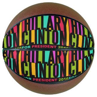 Colorful Hillary Clinton 2016 basketball