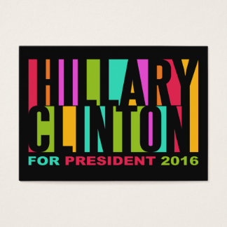 Colorful Hillary Clinton 2016 business cards