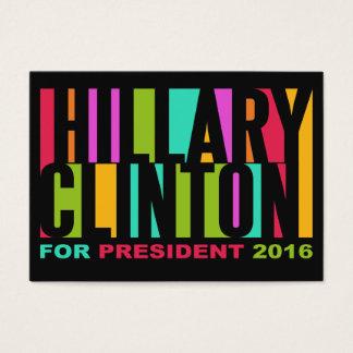 Colorful Hillary Clinton 2016 custom businesscards Business Card