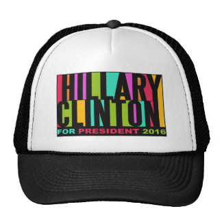 Colorful Hillary Clinton 2016 hats
