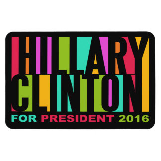 Colorful Hillary Clinton 2016 magnet