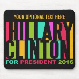 Colorful Hillary Clinton 2016 mousepad