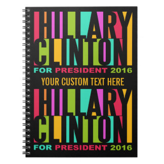 Colorful Hillary Clinton 2016 notebook