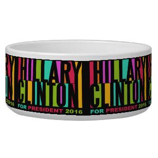 Colorful Hillary Clinton 2016 pet bowls