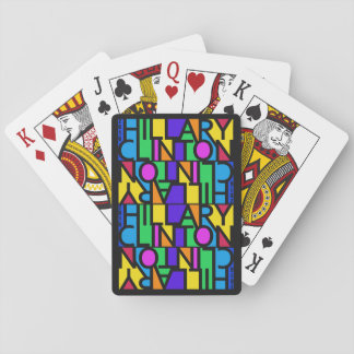 Colorful Hillary Clinton 2016 playing cards
