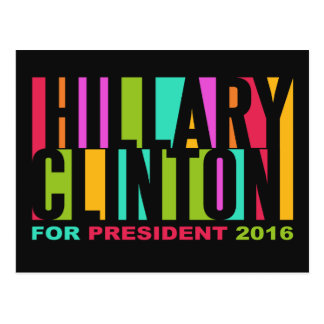Colorful Hillary Clinton 2016 postcard