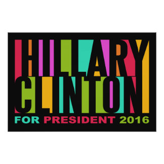 Colorful Hillary Clinton 2016 poster