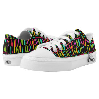 Colorful Hillary Clinton 2016 shoes Printed Shoes