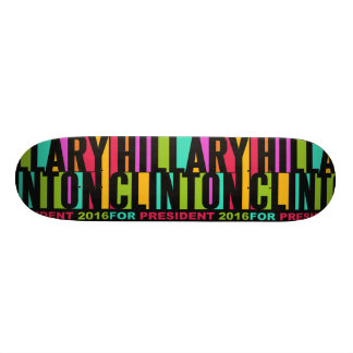 Colorful Hillary Clinton 2016 skateboards