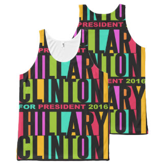 Colorful Hillary Clinton 2016 tank top All-Over Print Tank Top