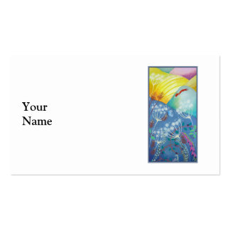 Colorful Hills, Plants and Fox. Double-Sided Standard Business Cards (Pack Of 100)