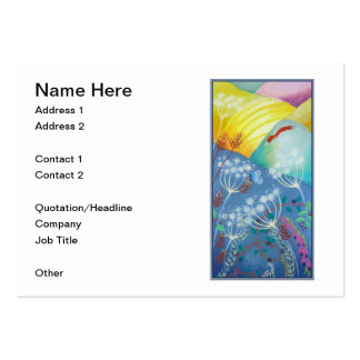 Colorful Hills, Plants and Fox. Large Business Cards (Pack Of 100)