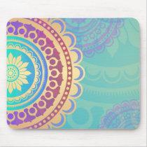 Colorful Hindu Art Pattern Mouse Pad