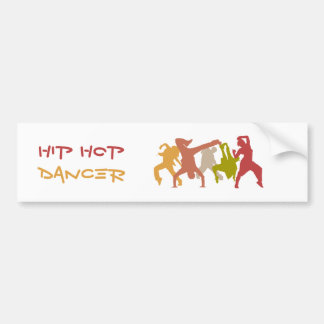 Colorful Hip Hop Dancers Car Bumper Sticker