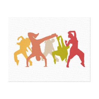 Colorful Hip Hop Dancers Canvas Print