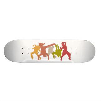 Colorful Hip Hop Dancers Skate Decks