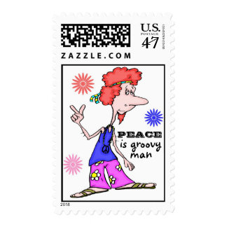 Colorful Hippie 60's Peace Postage