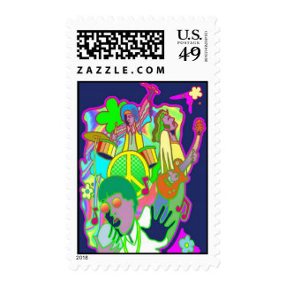 Colorful Hippie 60's Postage