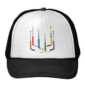 Colorful Hockey Goalie Sticks Trucker Hat