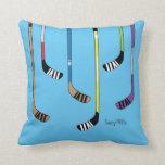 Colorful Hockey Sticks Pillow
