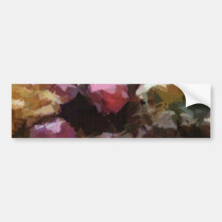 Colorful Holiday Christmas Ornaments Wreath Bumper Sticker