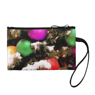 Colorful Holiday Christmas Tree Ornaments Coin Purses