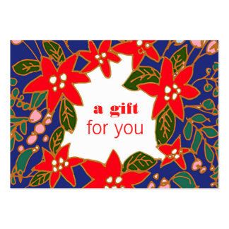 Colorful Holiday Gift Certificate Large Business Card