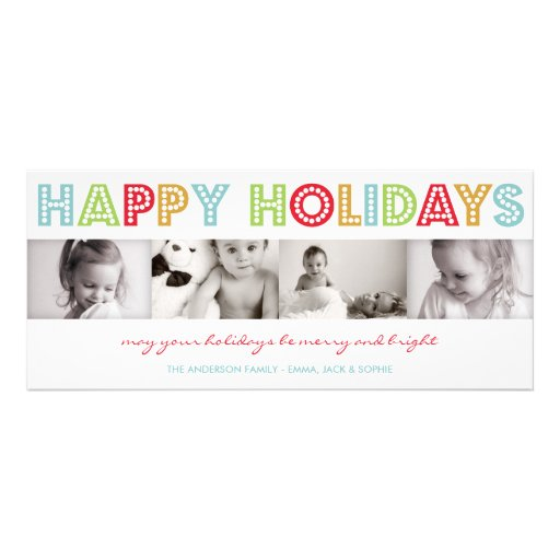 COLORFUL HOLIDAY | HOLIDAY PHOTO CARD INVITATIONS