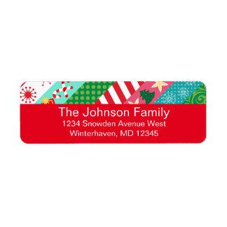 Colorful Holiday Washi Custom Address Labels