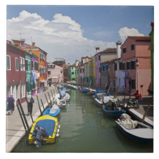 Colorful homes along canal on the island of ceramic tile