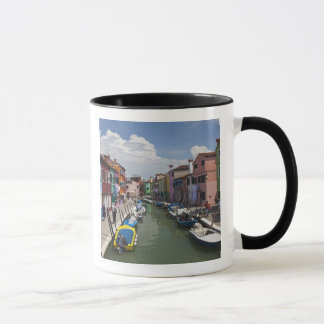 Colorful homes along canal on the island of mug