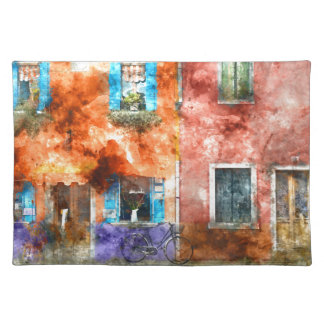 Colorful Homes in Burano Italy near Venice Placemat