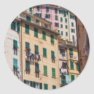 Colorful Homes in Cinque Terre Italy Classic Round Sticker