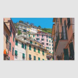 Colorful Homes in Cinque Terre Italy Rectangular Sticker