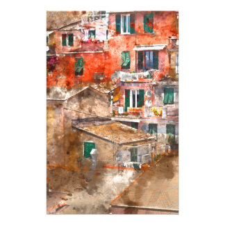 Colorful Homes in Cinque Terre Italy Stationery
