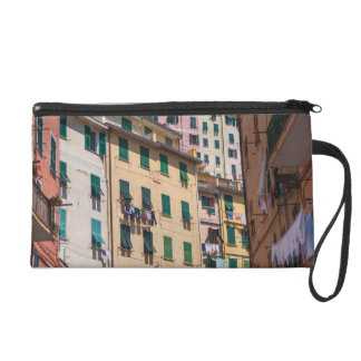 Colorful Homes in Cinque Terre Italy Wristlet