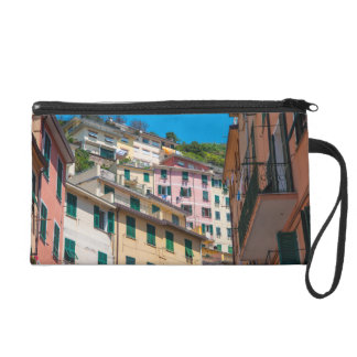 Colorful Homes in Cinque Terre Italy Wristlet Purse