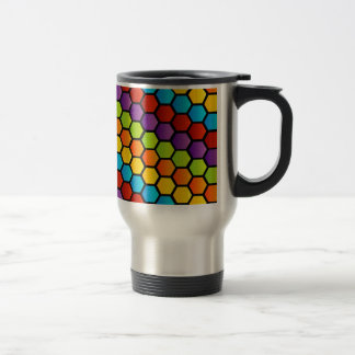 Colorful honeycell travel mug
