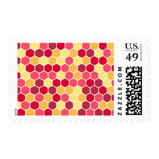 Colorful Honeycomb Hexagon Pattern Postage