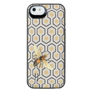 Colorful Honeycomb Pattern and Honey Bee iPhone SE/5/5s Battery Case