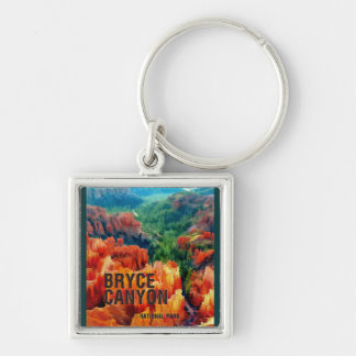 Colorful Hoodoos in Bryce Canyon National Park Key Chains