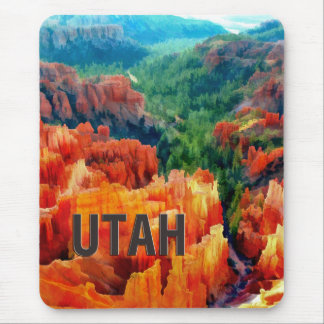 Colorful Hoodoos in Bryce Canyon UTAH Mouse Pad