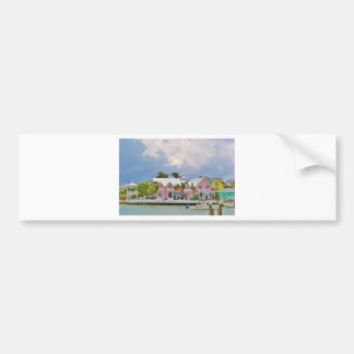 Colorful Hope Town, Bahamas Bumper Sticker