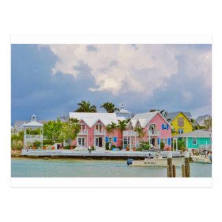Colorful Hope Town, Bahamas Postcard