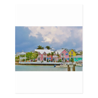 Colorful Hope Town, Bahamas Postcard