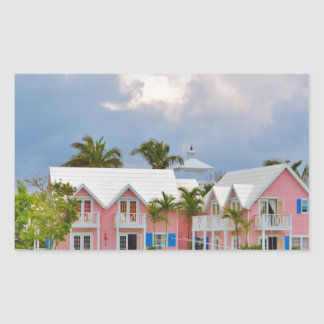 Colorful Hope Town, Bahamas Rectangular Sticker