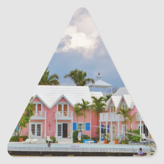 Colorful Hope Town, Bahamas Triangle Sticker