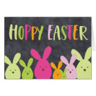 Colorful Hoppy Easter Bunny Family Card