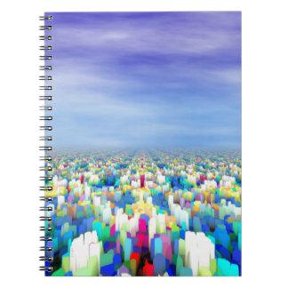 Colorful Horizon Spiral Notebook